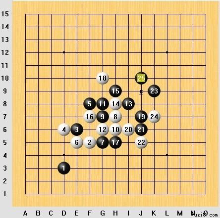 五子棋的步骤图幼儿园区域墙饰